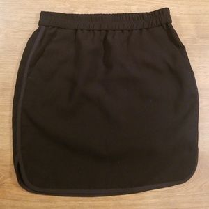 J. Crew Crepe pencil skirt with curved hem